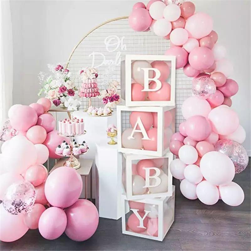 30 см Baby Shower для мальчиков и девочек коробка воздушные шары во-первых 1 1st День рождения украшения дети балон шары Babyshower для свадьбы