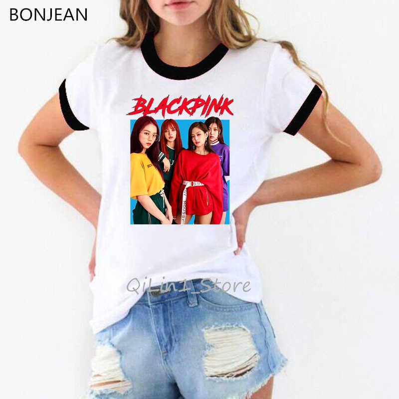 K-pop Blackpink Doden Deze Liefde T-shirt Vrouwen Kpop kleding vrouw wit ringer tee shirt femme streetwear 90s custom tshirt tops