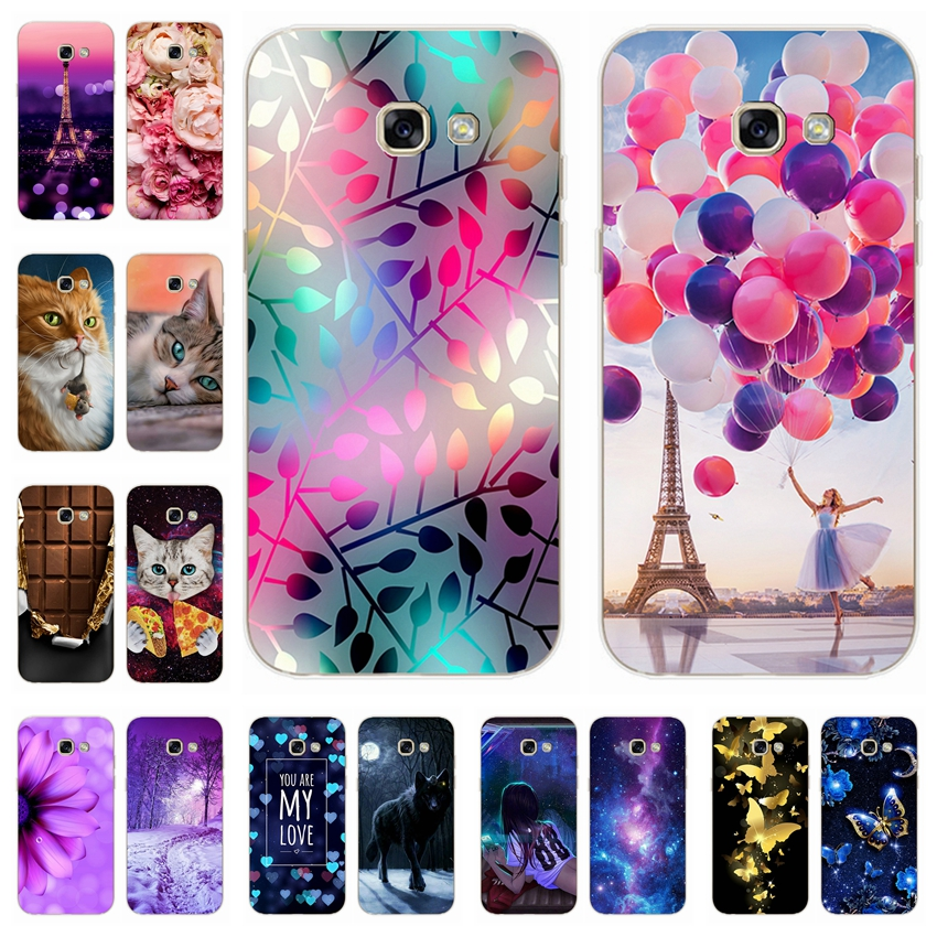 For <font><b>Samsung</b></font> <font><b>Galaxy</b></font> <font><b>A5</b></font> <font><b>2017</b></font> Soft Silicone Case Printing Cute Cover Cases For <font><b>Samsung</b></font> A 5 <font><b>2017</b></font> <font><b>A520F</b></font> 5.2
