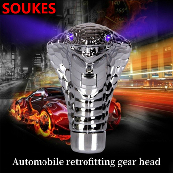 Car Styling Snake Automatic Gear Shift Knob Head For BMW E46 E90 E60 E36 F20 X5 Ford Focus 2 3 1 Peugeot 206 307 308 Saab image