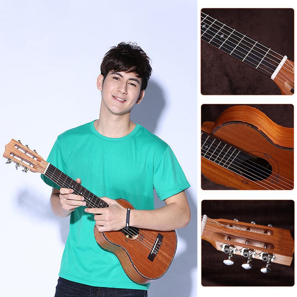 Unisexe 30 pouces palissandre nylon ficelle ukulélé guitare 6 cordes guitare instrument - 2