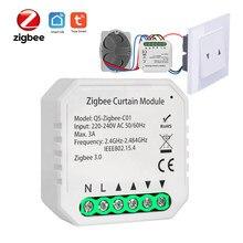 Tuya inteligente zigbee 3.0 módulo interruptor de cortina para o motor cego do obturador do rolo diy casa inteligente pelo assistente do google alexa zigbee2mqtt