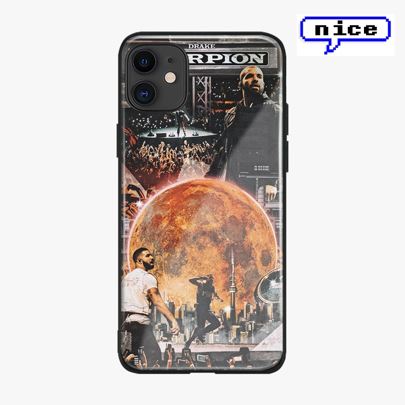 drake rapper glass shell for iPhone SE 6 6s 7 8 x xr xs 11 pro max Samsung S note 8 9 10 20 ultra Plus phone case cover image