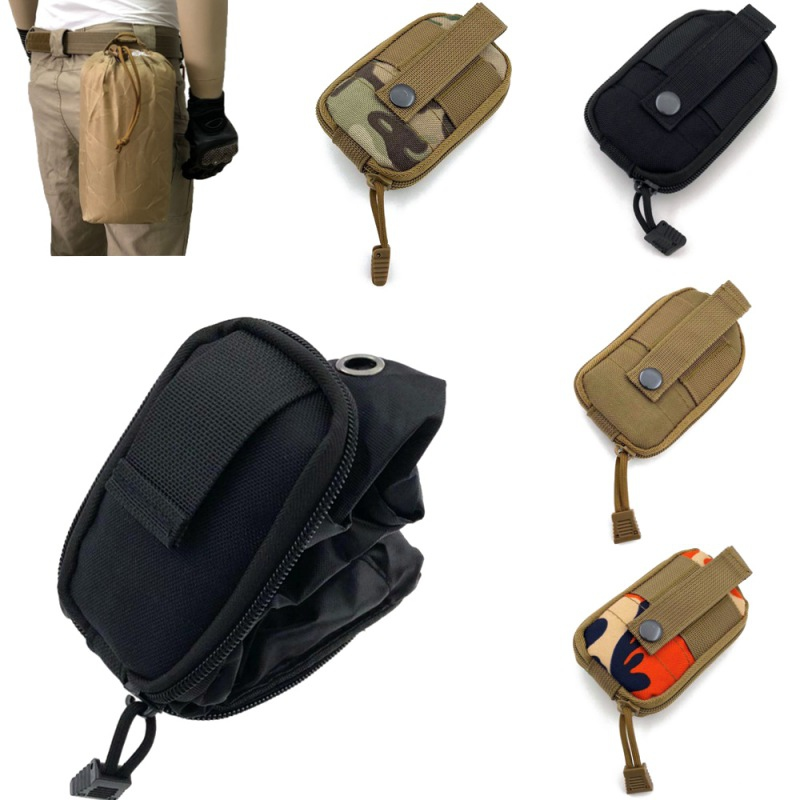 Utility Bag Portable Hunting Storage Bag Foldable Belt Pouch Tactical Waist Pouch Camping Drawstring Waist Bags