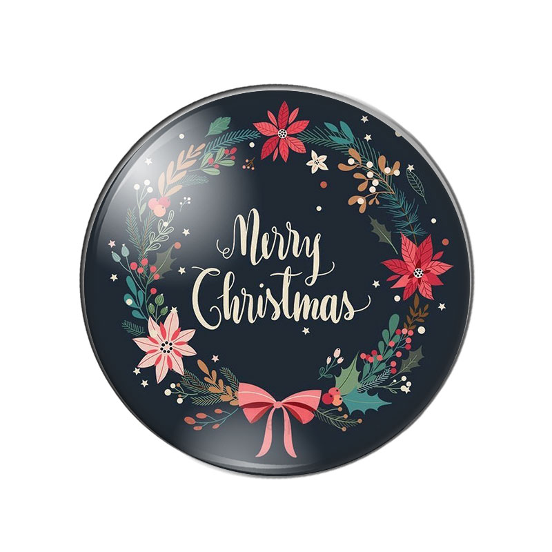 Merry Christmas patterns letters words 10pcs 10mm/12mm/18mm/20mm/25mm Round photo glass cabochon demo flat back Making findings