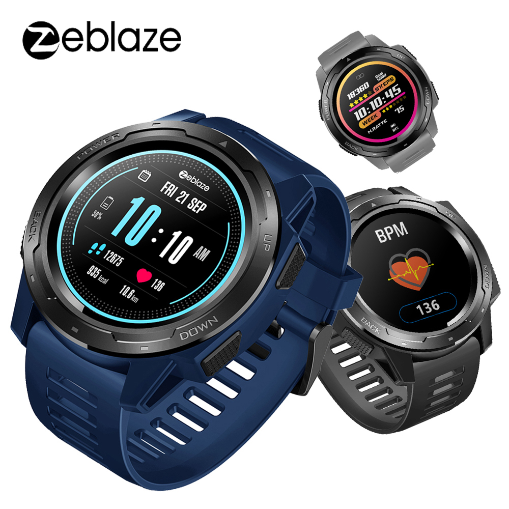 New Zeblaze VIBE 5 Smartwatch Men IP67 Waterproof Heart Rate Monitor Color Screen Multi-sports Modes Fitness Tracker Smart Watch