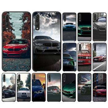 Blue Red Car For Bmw Phone Case Samsung S10 S10lite 2019 S9 S9plus S8 S7 S6 S6edge S5 S4 Black Case image