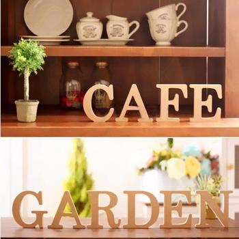 Freestanding A-Z Wood Wooden Letters Alphabet Hanging Wedding Home Party Decor Wedding party room Letter decoration image