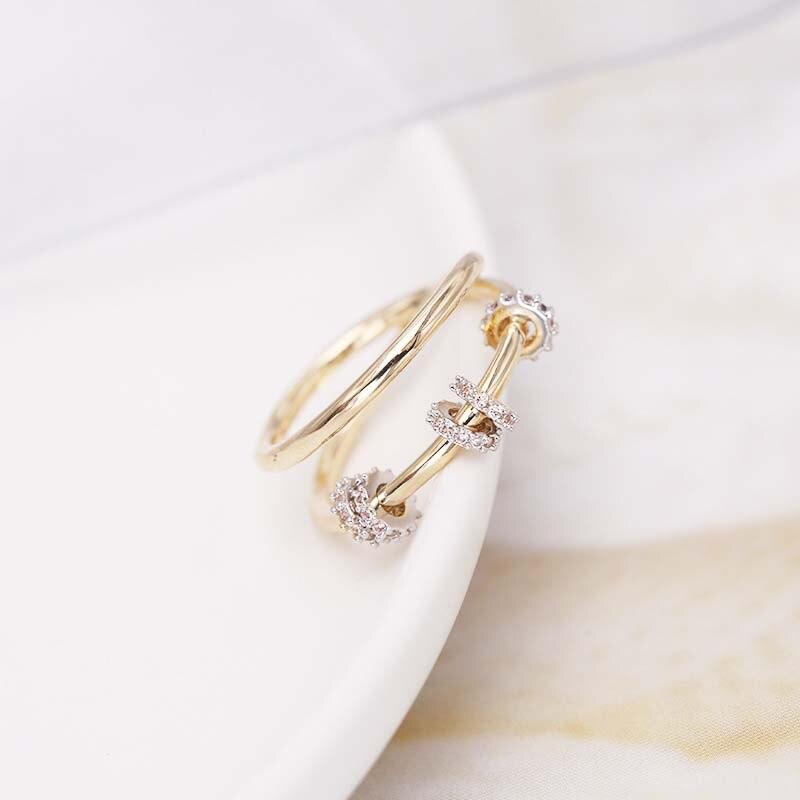 MISSFOX bijoux bagues pour femmes mode Design Simple Glamour couleur or doigt coulissant cercle multi-couche anneaux nouvelle arrivée 2020