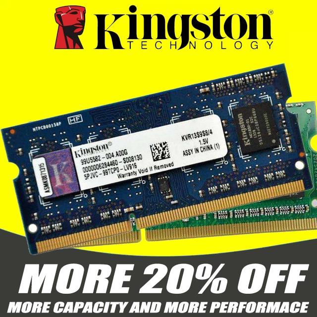 Memória ram kingston, ddr3 2g 4 gb 8 gb 1333 mhz PC3-10600S 1600 mhz 12800 s ddr2 800 mhz 667 mhz 204pin 1.5 v laptop notebook sodimm