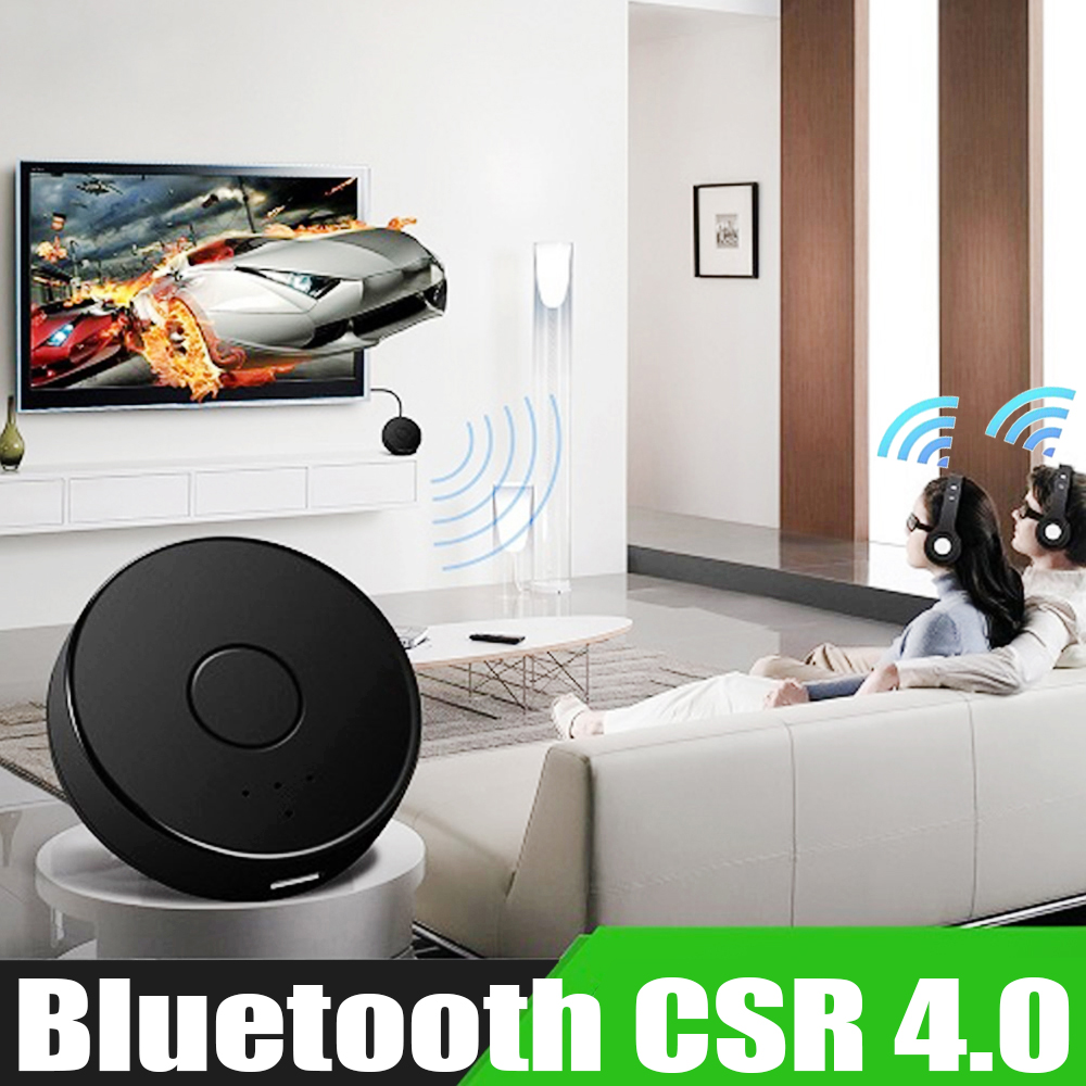 Bluetooth CSR4.0 Adapter 3.5mm Audio Music Stereo Bluetooth Transmitter Support Two Bluetooth Devices For Headphone TV PC