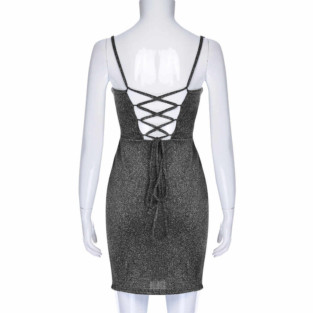 Mode Vrouwen Bling Riem Korte Jurk Lovertjes Club Jurk Casual Zomer Bodycon Avondjurk Party Dress Vestidos De Fiesta