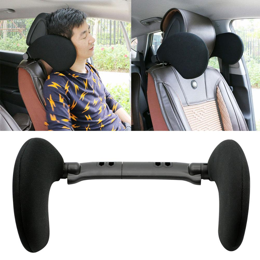 Car Neck Pillow Adjustable Car Seat Headrest Head Side Support Sleeping Rest Pillow Cushion for cars filled fiber universal image