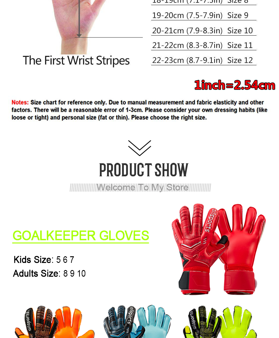 Professional Goalkeeper Gloves With Finger Protection 8