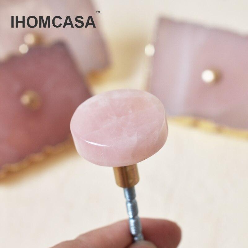Купить ihomcasa натуральный агат кристалла l + латунные ручки кухонный