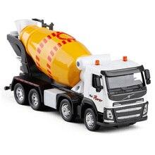 ขายปลีก1:50 Scale Cement Mixerรถบรรทุกรถวิศวกรรมของเล่นเสียงการศึกษาคอลเลกชันสำหรับของขวัญเด็ก