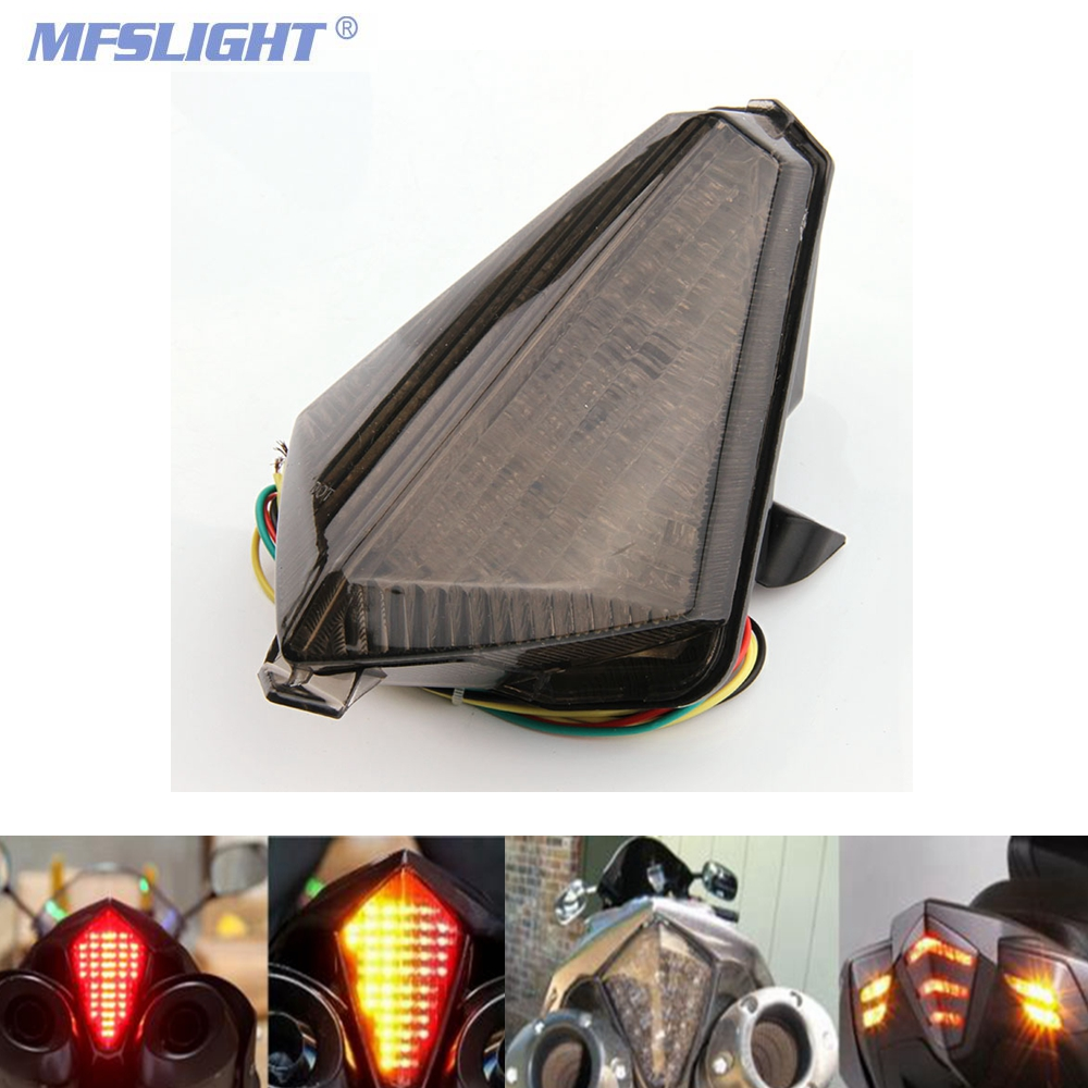 Motorcycle <font><b>LED</b></font> Tail <font><b>Light</b></font> Brake Turn Signal Blinker rear lamps For <font><b>Yamaha</b></font> YZF <font><b>R1</b></font> YZF-<font><b>R1</b></font> 2007-2008 TMAX S30 2012-2014 image