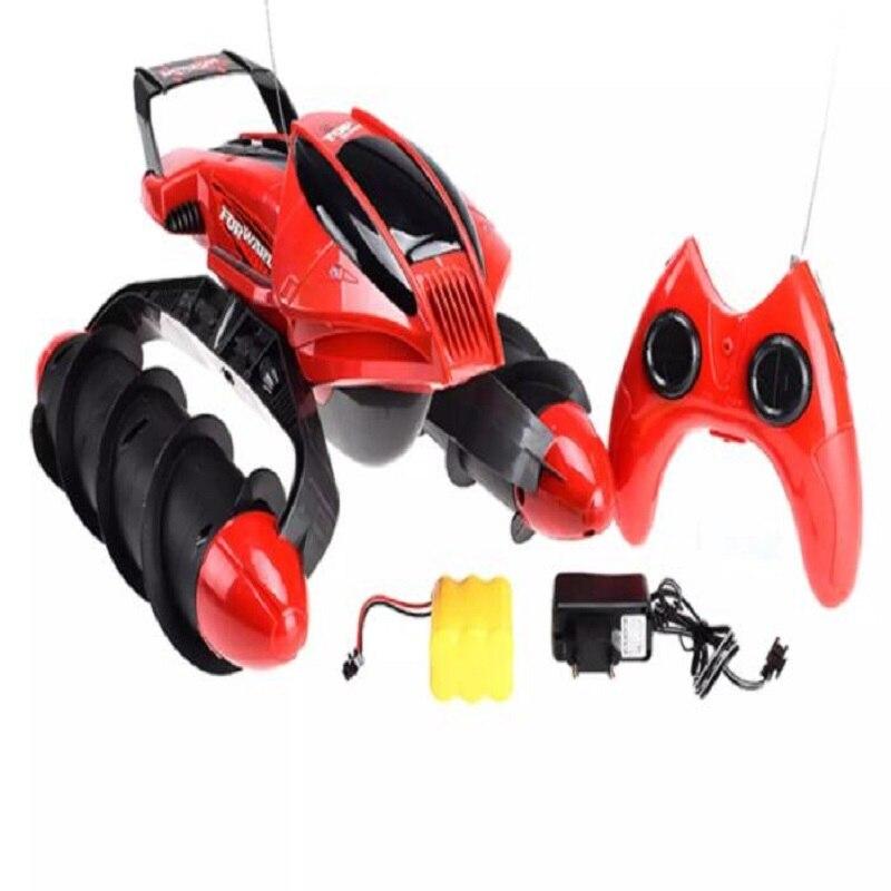 A prueba de agua RC coche tanque anfibio carretera truco RC coche aplicar a todas las carreteras luz diseño especial de juguete de Control remoto - 6