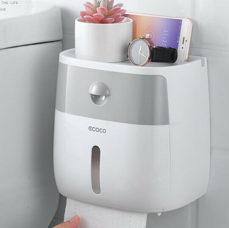 Hot Sale Waterproof Wall Mounted Toilet Roll Holders Towel Bathroom Tissue Paper Box Rack For Drop Shipping