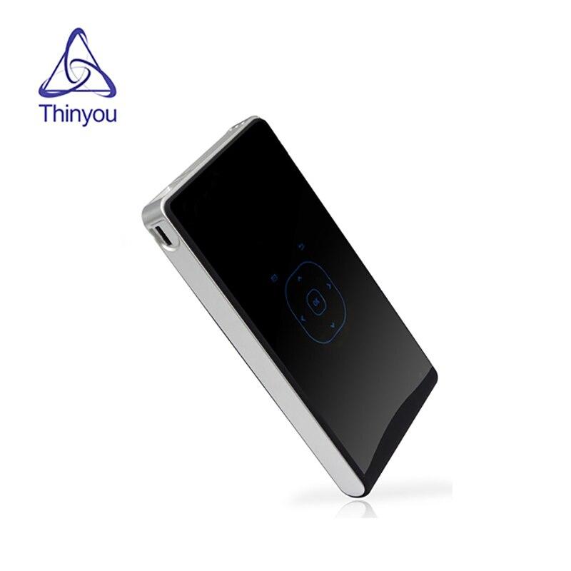 DLP Mini Projektor Android WIFI Bluetooth mit Akku 2000mAh HD Smart Proyector verdrahtete Synchrone anzeige