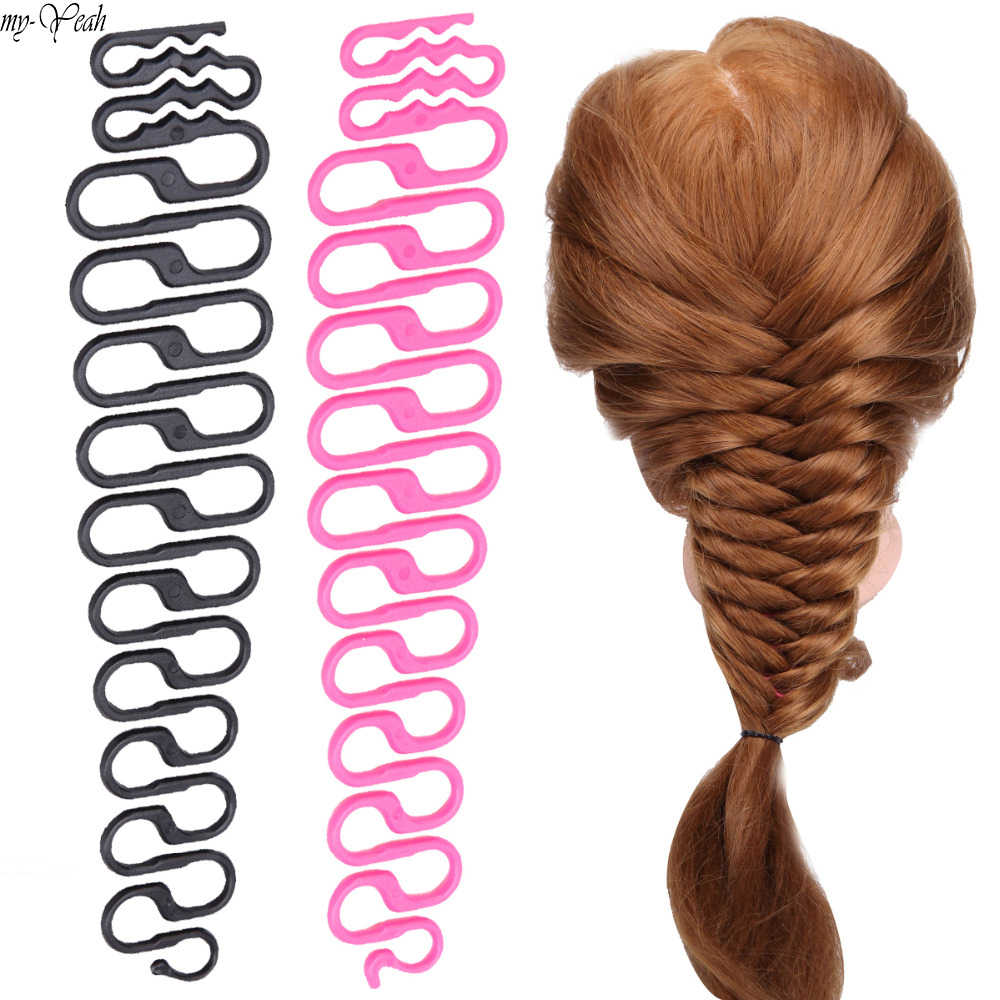 3 Colors French Centipede Hair Braiding Tool Braider Roller Hook With Magic Hair Twist Styling Bun Maker Hair Band Accessories