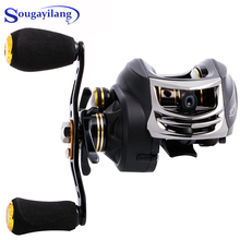 Sougayilang Baitcasting Fishing Reel 6.3:1 Right /Left Handle Lightweight 11+1BB Fishing Reel Tackle Wheel Fishing Coil Pesca sougayilang 18 1bb baitcasting fishing reel strong drag power 10kg white right left handed carp fishing wheels fishing tracking