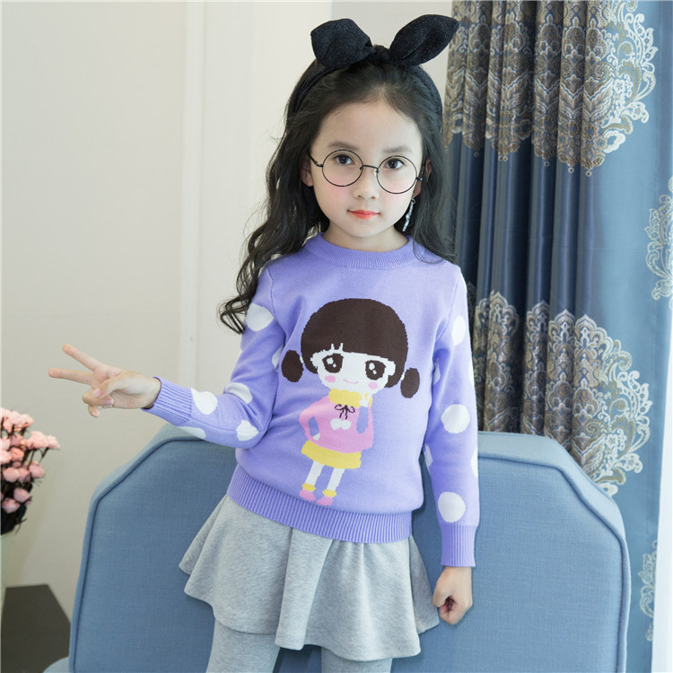 Girl'S Sweater Small CHILDREN'S Sweater Children 2019 CHILDREN'S Sweater Autumn And Winter