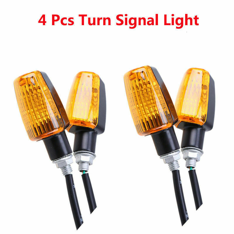 4Pcs set 12V Universal Motorcycle Turn Signal Indicator Light Turning Amber Lamp Bulb Motorbike Lamps Blinker Flash Bike Lamp