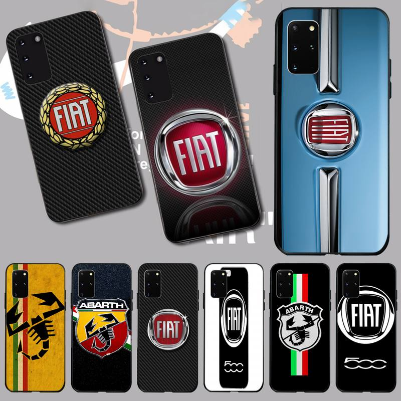 PENGHUWAN Fiat Car Logo Fashions Black TPU Soft Rubber Phone Cover for Samsung S20 plus Ultra S6 S7 edge S8 S9 plus S10 5G