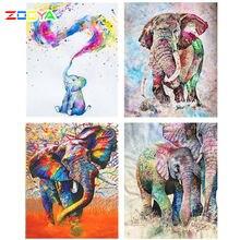5d алмазов картина камни в форме ромба/круглый слон Цветной