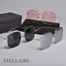 Luxury Square Brand designer Metal Frame Sunglasses Women Men STELLAIRE Polarized UV400 lens for men women