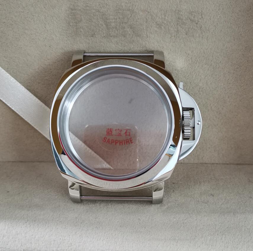 높은 품질 44mm 시계 케이스 세련 된 316L 스테인레스 스틸 ETA 6497 / 6498 / st3600 / 3621 운동 g020에 적합