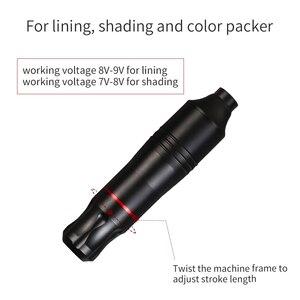 Image 4 - Compelte Attoo طقم أقلام مجموعة مجموعة تجميل دائمة آلات دوارة صغيرة الطاقة الوشم خرطوشة الإبر العرض