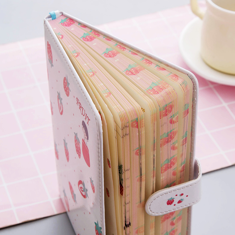 A5 PU Cover Creative Girl Heart Magnetic Hand Ledger Cute Notebook Diarycalendar School Student Diary Weekly Planner Notebooks