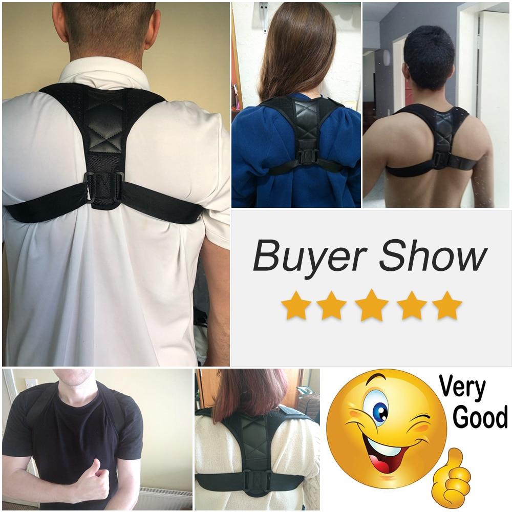 Aptoco Adjustable Back Posture Corrector Clavicle Spine Back Shoulder Lumbar Brace Support Belt Posture Correction 3
