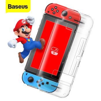 Baseus Clear Case For Nintendo Switch Game Card Shell Slim Hard PC Protective Full Cover Bag Case For Nintend Switch Coque Funda eastvita portable game bags game storage case protective handle carry case cover zipper protective shell for nintend switch