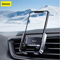 Автоматический Автомобильный держатель для телефона Baseus для iPhone 11 X Xs Max держатель на вентиляционное отверстие автомобиля держатель для тел...