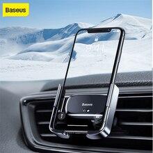 Baseus אוטומטי מכונית טלפון בעל עבור iPhone 11 X Xs מקסימום רכב אוויר Vent הר טלפון מחזיק עבור Samsung הערה 10 חכם אוטומטי אחיזה