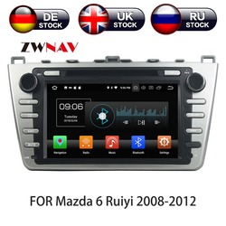 8 Core Android 10 WIth DSP Car DVD Player GPS Navigation 2 DIN Radio For Mazda 6 Atenza 2008 - 2012 Satnav Multimedia IPS Screen