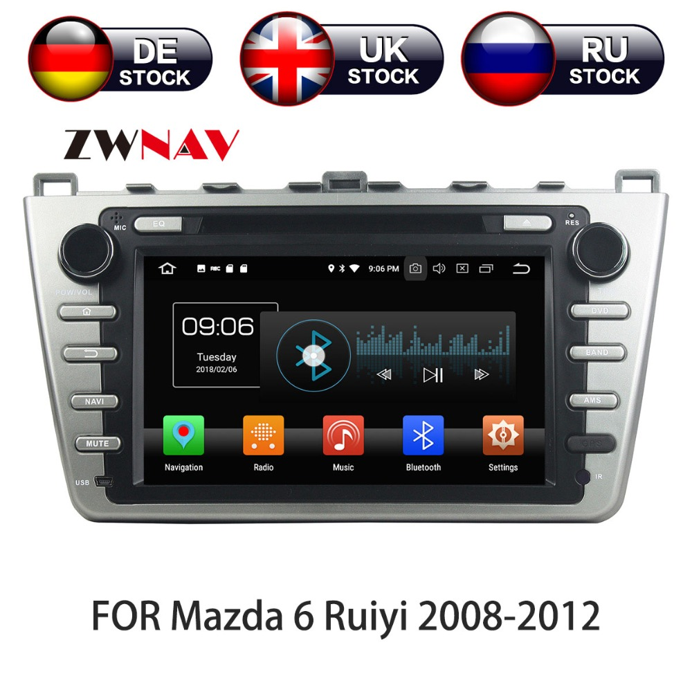 8 Core <font><b>Android</b></font> 9 WIth DSP Car DVD Player GPS navigation 2 DIN radio For <font><b>Mazda</b></font> <font><b>6</b></font> <font><b>Atenza</b></font> 2008 - 2012 Satnav multimedia tape radio image