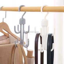 Scarf Rack Closet-Organizer Space Belt Hook Shoes Saving-Hanger Cabinets Rotation Key