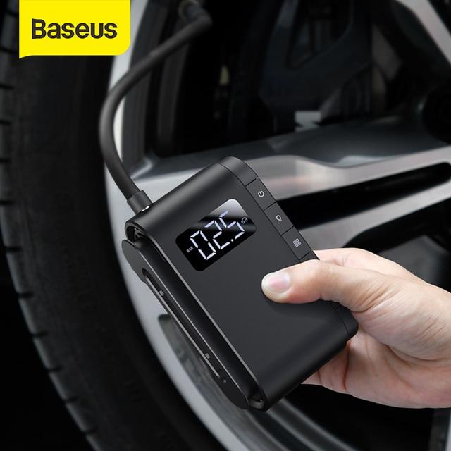 Pompe gonflable sans fil Baseus pompe à Air électrique Portable pour voiture moto vélo pneu gonfleur voiture intelligente compresseur dair