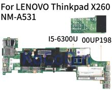 KoCoQin Laptop motherboard Für LENOVO Thinkpad X260 Core SR2F0 I5-6300U Mainboard 00UP198 BX260 NM-A531 100% Getestet