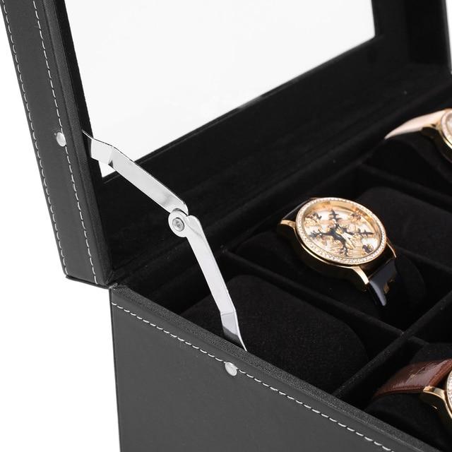 Boîte de montre 20 hommes étui en verre haut affichage organisateur verrouillable LL @ 17