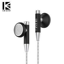 KBEAR Knight N52 Magnetic biocomposite diaphragm dynamic driver earbud with silv