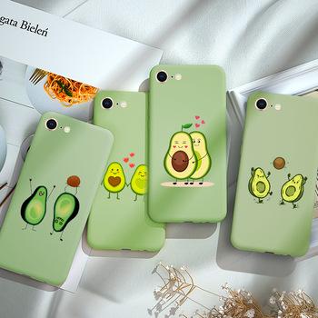 Avocado etui na telefon dla iPhone X S XR MAX cukierki miękkiego silikonu TPU tylna pokrywa dla iPhone 12 11 Pro Max mini 7 6 6S 8 Plus SE 2020 tanie i dobre opinie APPLE CN (pochodzenie) Częściowo przysłonięte etui Soft Candy Green Avocado for iphone 6 6s plus Case for iphone 7 8 plus Case