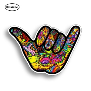HotMeiNi 13cm X 9.1cm Shaka Hang Loose Graffiti Sticker Vinyl Decal Bright Color for Car Truck Cup Cooler Tumbler Automobile