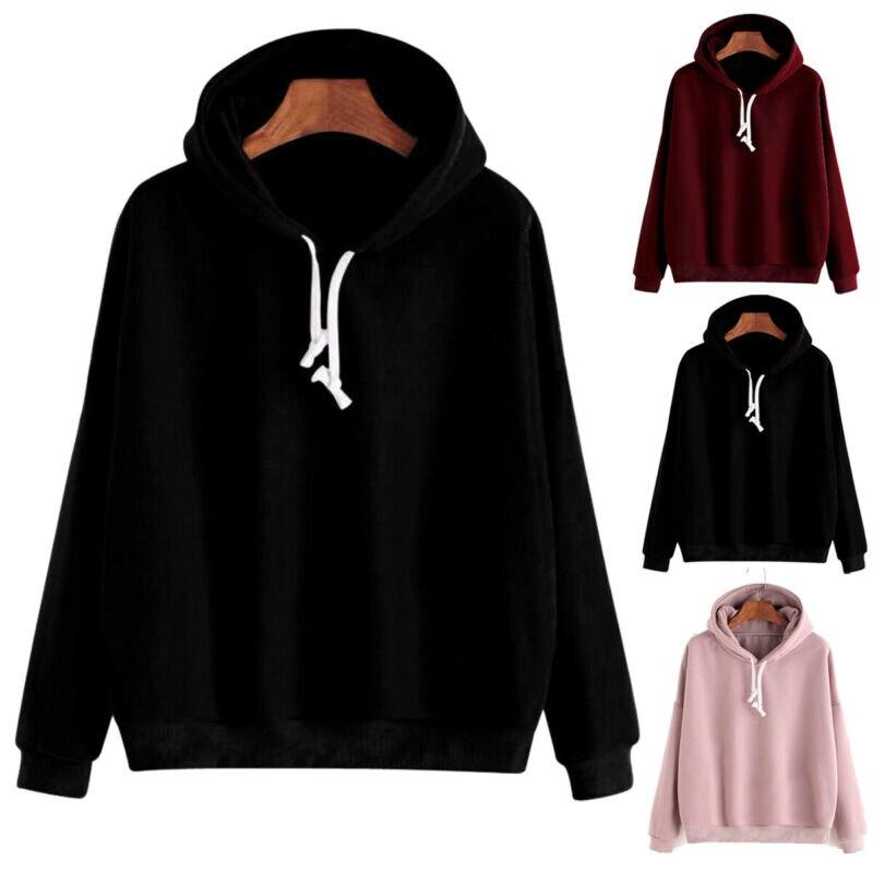 2020 Hot Elegant Long-Sleeved Plain Hooded Sweatshirt Multi-Color Men And Women Casual Pullover Solid Hoodie Brand Warm