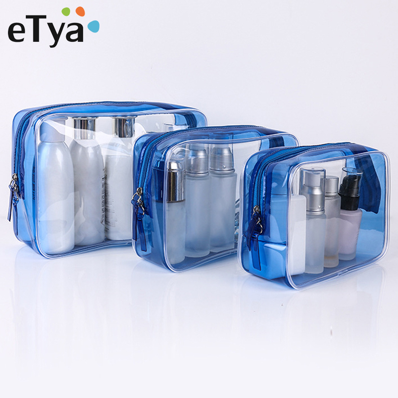 Men Women Travel  Transparent Cosmetic Bag Clear Zipper Make Up Case Makeup Beauty Organizer Storage Pouch Toiletry Wash Bags