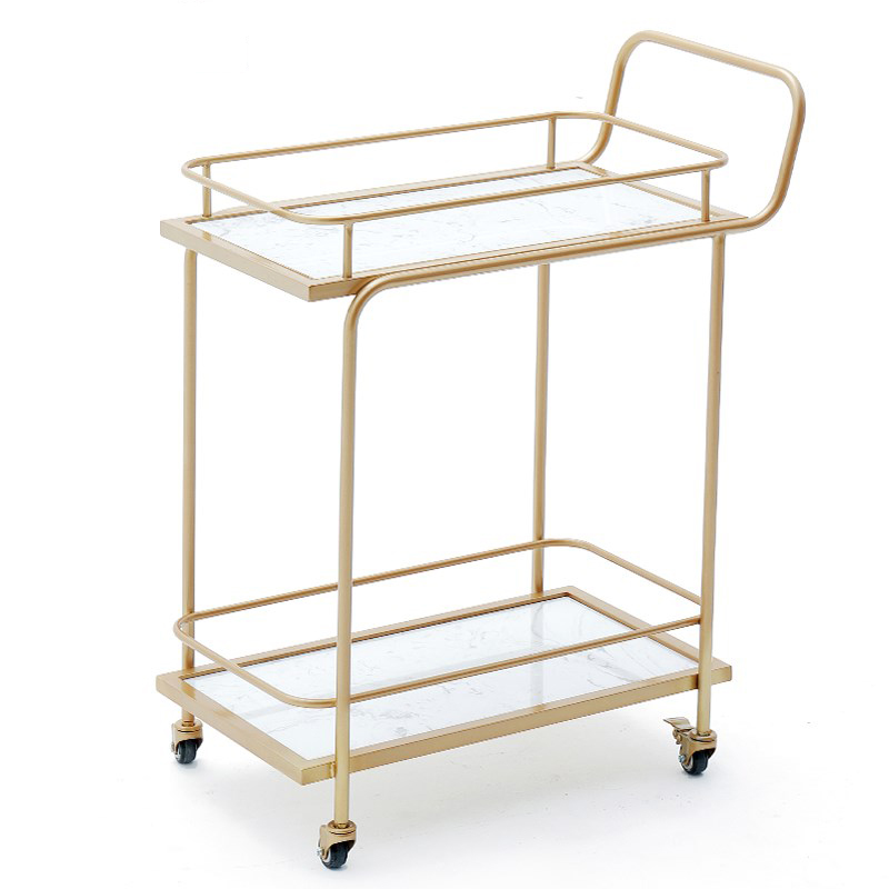 Nordic Hotel Light Luxury Tip Goods High-end Dining Car Trolley Tea Cart Wine Cart Restaurant Delivery Trolley
